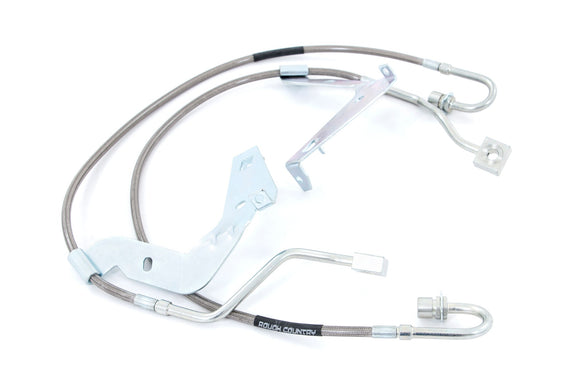 FORD EXTENDED FRONT STAINLESS STEEL BRAKE LINES | 4.5-6IN LIFTS (17-21 F-250/F-350)