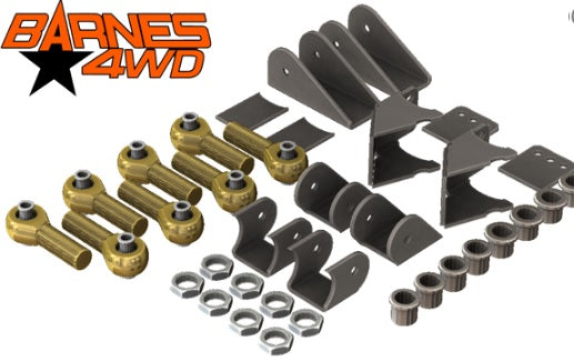 1-1/4 ENDURO 4 LINK TRIANGULATED UPPERS, STANDARD LOWERS, 9/16 BOLT SIZE