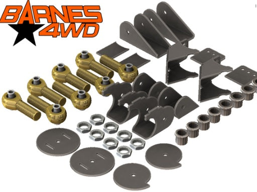 1-1/4 ENDURO 4 LINK TRIANGULATED UPPERS, 7 COIL COMBO LOWERS, 5/8 BOLT SIZE