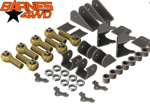 1-1/4 ENDURO 4 LINK TRIANGULATED UPPERS, SHOCK MOUNT COMBO LOWERS, 5/8 BOLT SIZE