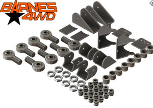 1 1/4 TRIANGULATED UPPERS FOUR LINK SUSPENSION KIT, STANDARD LOWER CONTROL ARM BRACKETS, 7/8 UPPERS