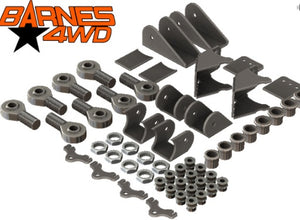 1 1/4 TRIANGULATED UPPERS FOUR LINK SUSPENSION KIT, SHOCK COMBO LOWER CONTROL ARM BRACKETS, 7/8 UPPERS