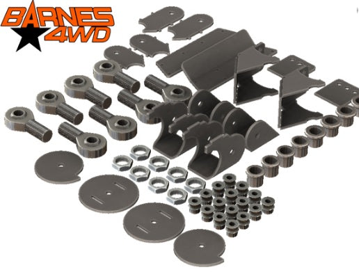 1-1/4 LOWER TRIANGULATED 4 LINK, 7 COIL SPRING COMBO LOWER CONTROL ARM BRACKETS, 1-1/4 UPPERS