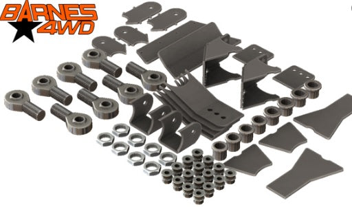 1-1/4 LOWER TRIANGULATED 4 LINK, STANDARD LOWER CONTROL ARM BRACKETS, 7/8 UPPERS