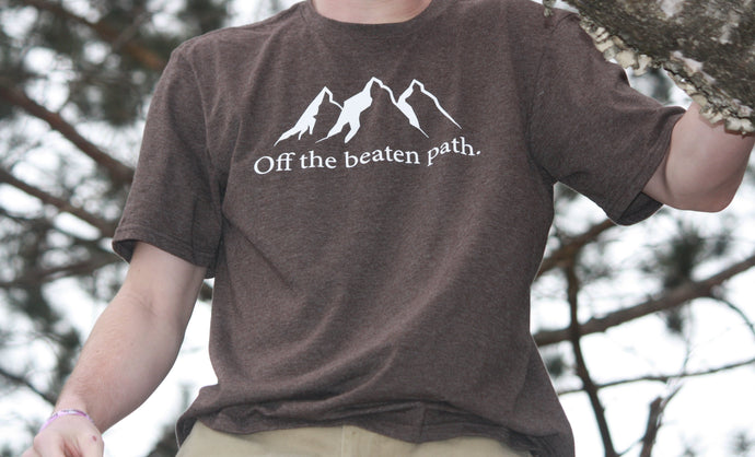 Off the Beaten Path Short Sleeve Tee- Brown