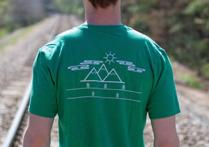 Simple Scenery Short Sleeve Tee- Evergreen