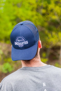 Sunset Trucker Hat- Navy