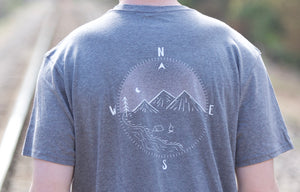 Compass Short Sleeve Tee- Grey