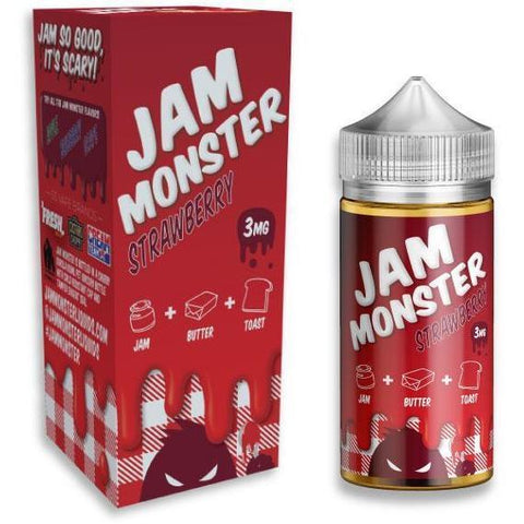 Strawberry by JAM MONSTER-E-Liquid-Pirate Point Vape