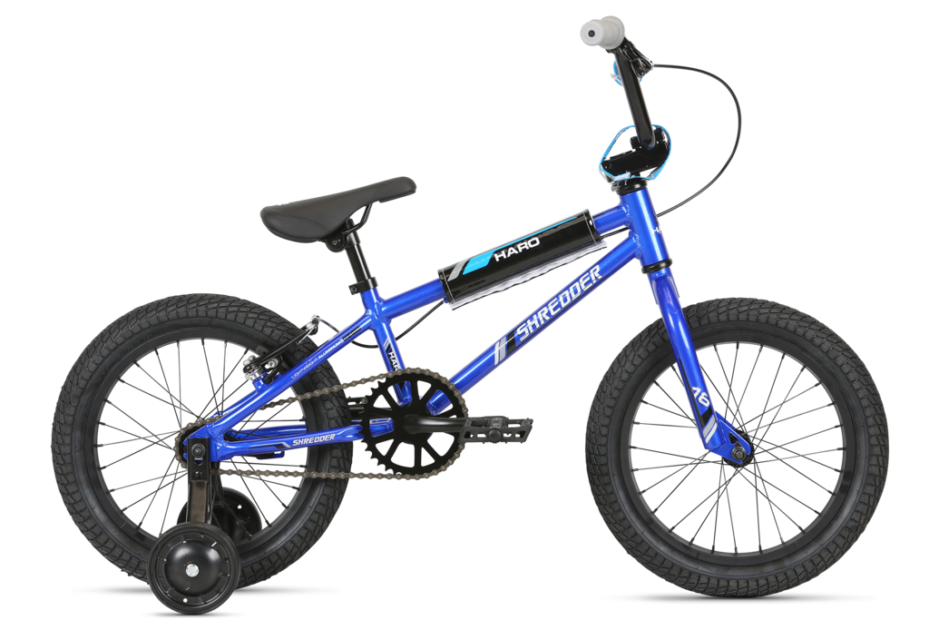 "2020 Haro Shredder Boys 16"" BMX - Gloss Metallic Blue"