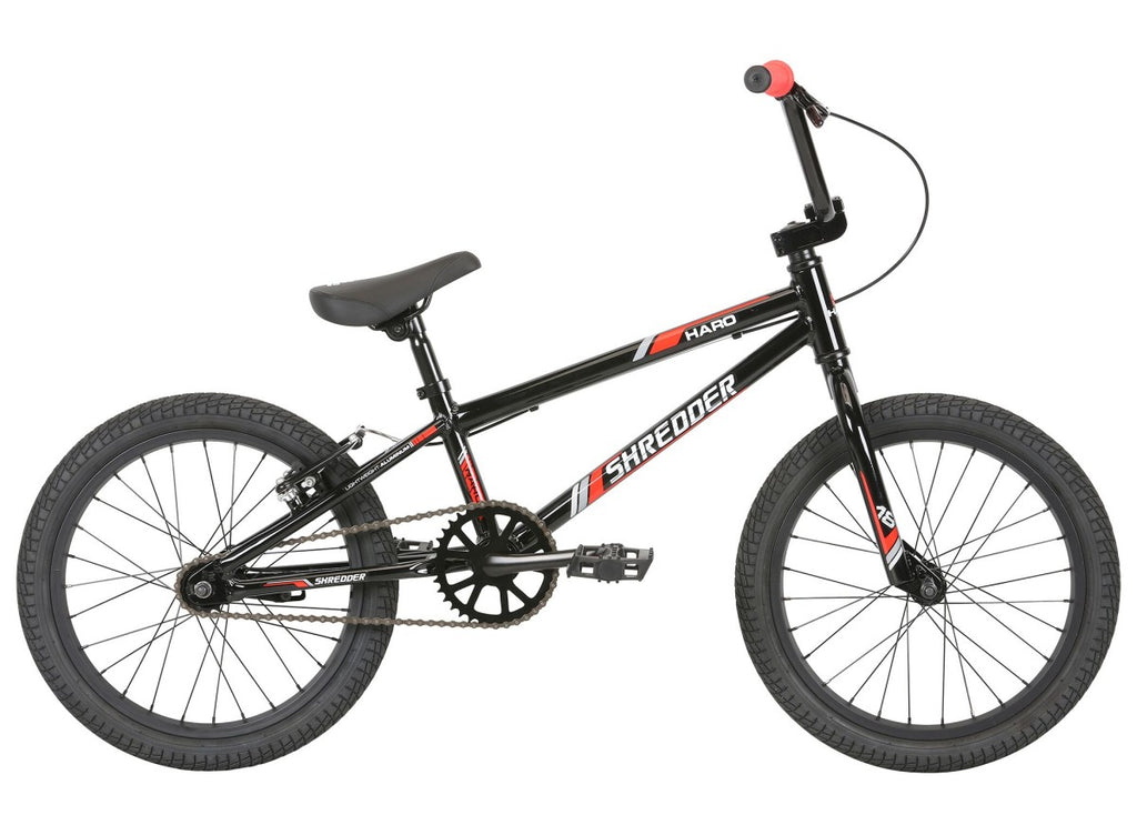 "2020 Haro Shredder 18"" BMX - Gloss Black/Red"
