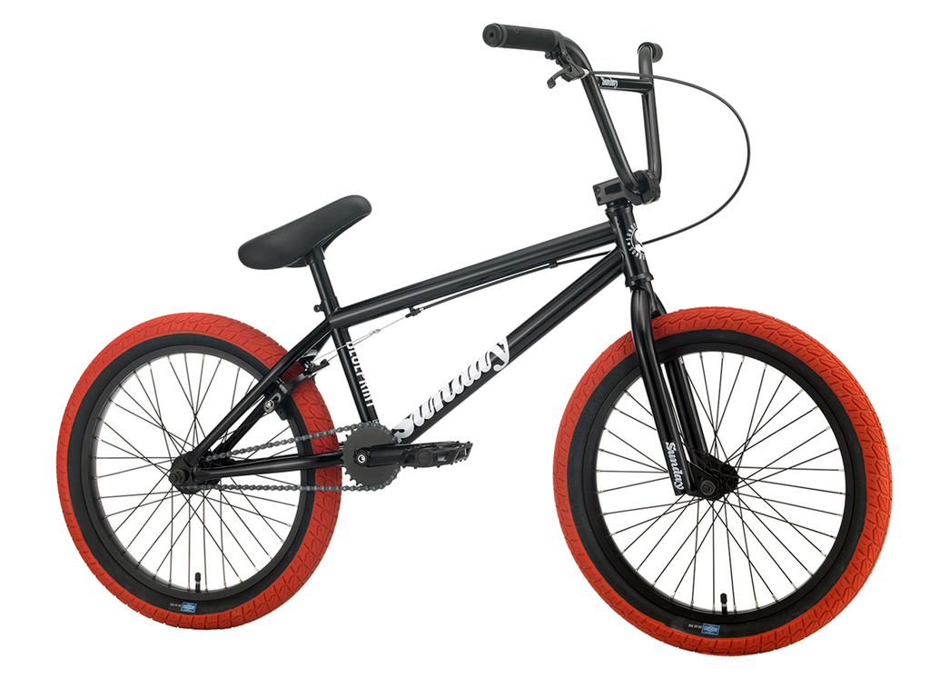 "2021 Sunday Blueprint 20"" BMX - Gloss Black/Red"
