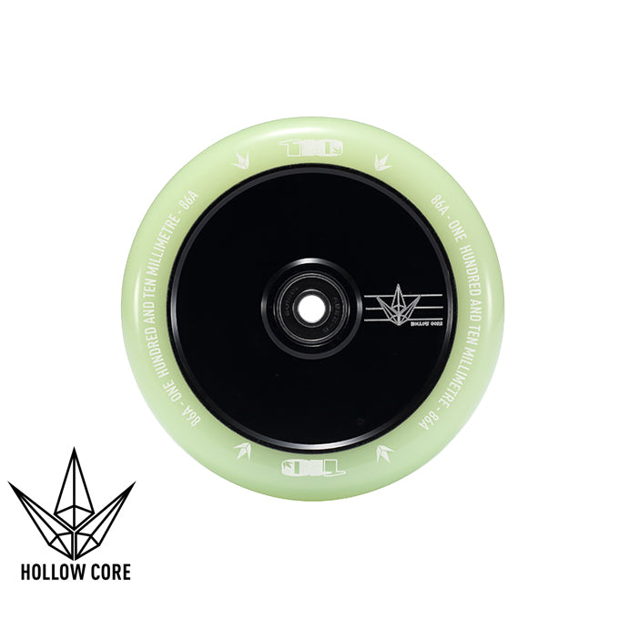 Envy Hollow Core Glow 110mm Scooter Wheels - sold as a pair