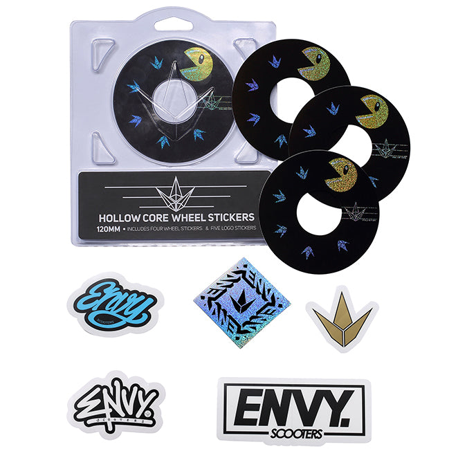 Envy Hollow Core Wheel Stickers - 120mm