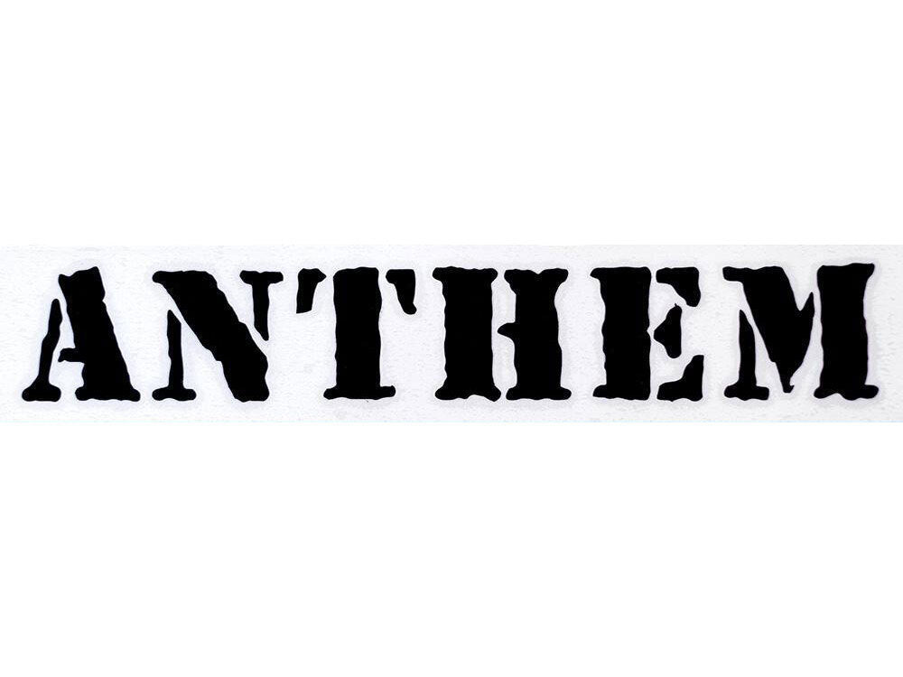 Anthem Die Cut Sticker / Black