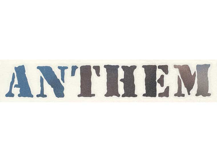 Anthem Die Cut Sticker / Chrome