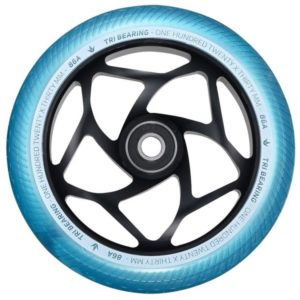 Envy Tri Bearing 120mm/30mm Wheels - Teal/Black - sold as a pair