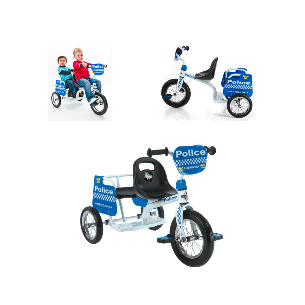 Eurotrike Children's Tandem Fire Trike Available Now At District Cycle Store Pakenham.