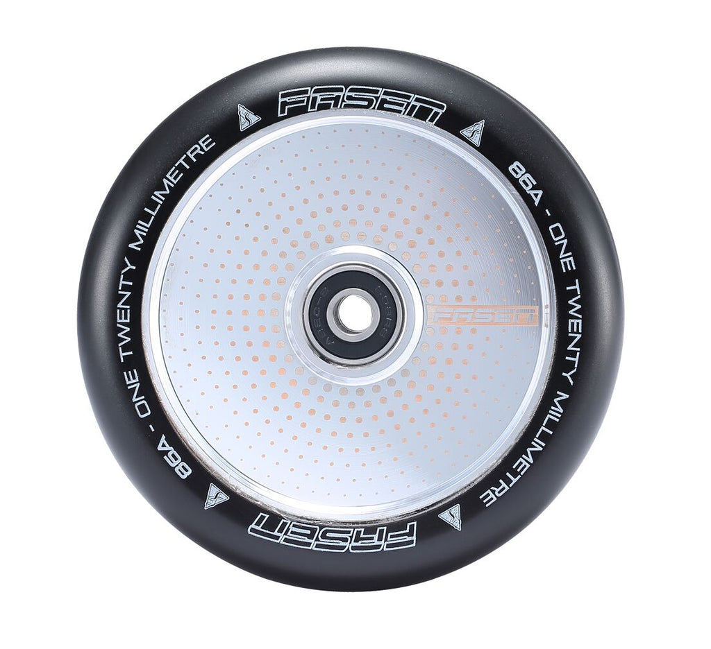 Fasen Hypno Hollow Core Chrome Dot 120mm Scooter Wheels