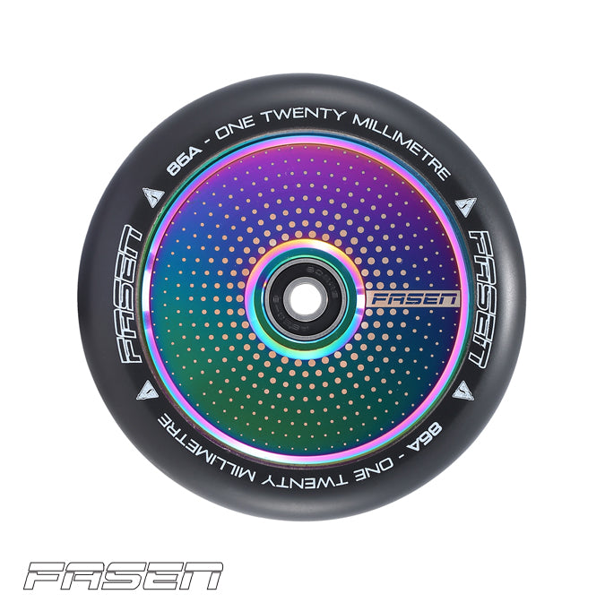 Fasen Hypno Hollow Core Oil Slick Dot 120mm Scooter Wheels