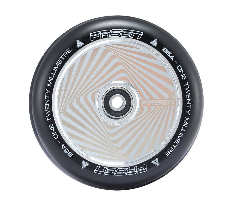 Fasen Hypno Hollow Core Chrome Square 120mm Scooter Wheels
