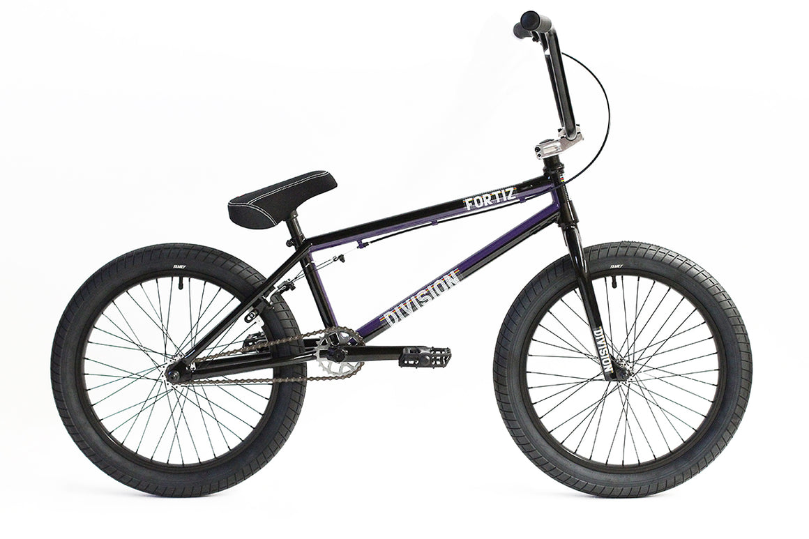 "2020 Division Fortiz 20"" BMX Bike - Black/Purple"