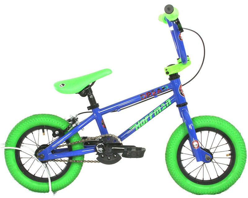 "2021 Hoffman ""The Dream"" 12"" BMX Pedal & Balance Bike - Blue / Green - Pre Order"