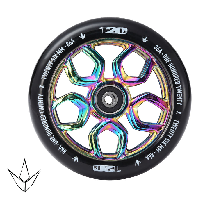 Envy 120mm Lambo Scooter Wheels Oil Slick