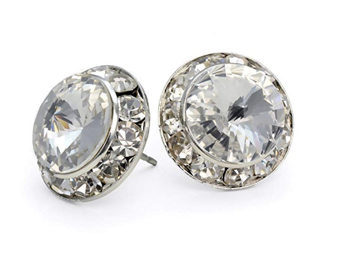 18mm Rhinestone Earrings - Stardom Dance Costumes