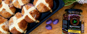 Roogenic - Native Strawberry Hot Cross Buns