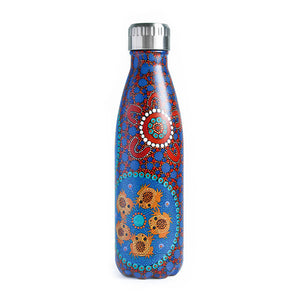 Aboriginal Desert Frog Stainless Steel Water Bottle