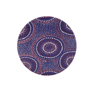 Aboriginal Desert Waterholes Ceramic Coaster