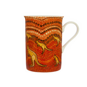 Aboriginal Kangaroo Sunset Mug