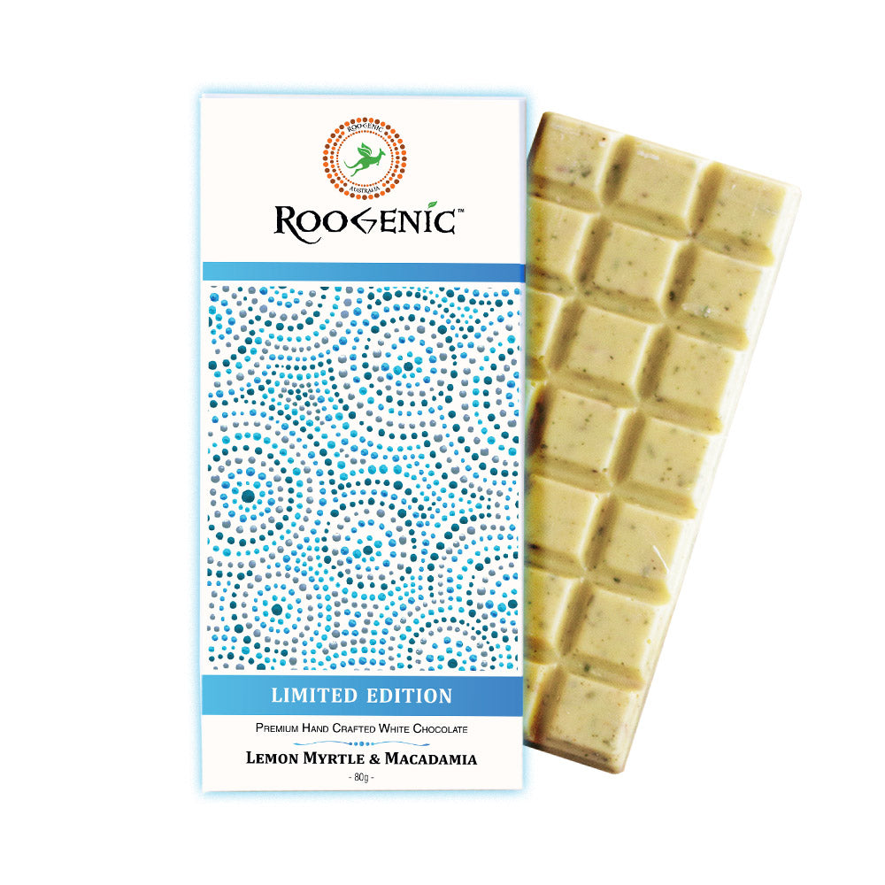 Lemon Myrtle & Macadamia White Chocolate