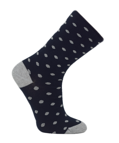 Women's Non-Elastic Cotton Casual Crew Sock- 2PK - Made in Portugal