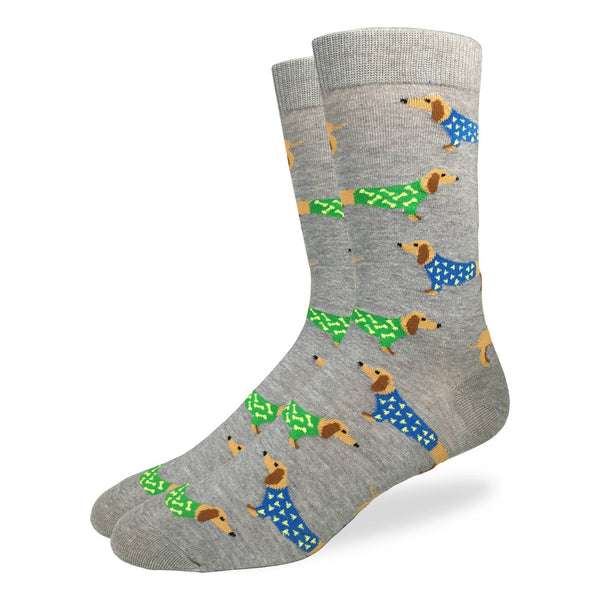 "Men's ""Wiener Dog"" Crew Socks by Good Luck Sock"