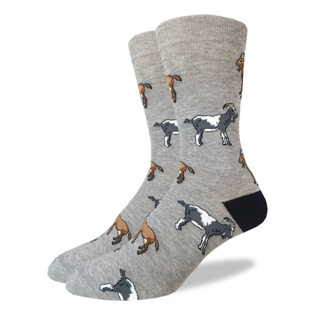 "Men's ""Navy Robot"" Cotton Crew Socks by Good Luck Sock"