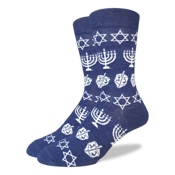 "Unisex ""Hanukkah"" Crew Socks by Good Luck Sock"