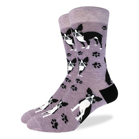 Men's Corgi Pizza Cotton Crew Socks by Good Luck Sock