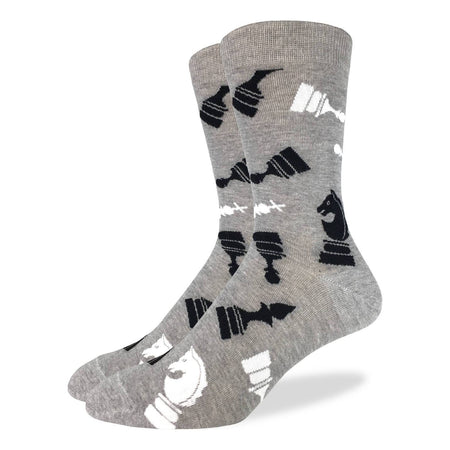 Vagden Men's Diagonal Pattern Dress Socks (XL)