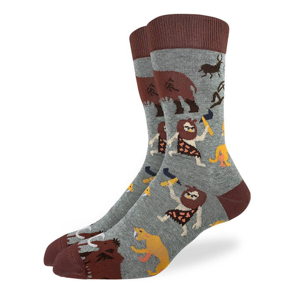 "Men's ""Cavemen"" Crew Socks by Good Luck Sock"