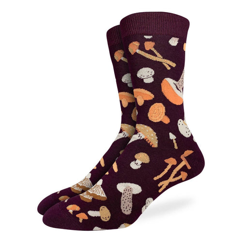 "Unisex ""Mushroom"" Cotton Crew Socks by Good Luck Sock"