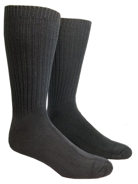 Grey High percent cotton dress socks