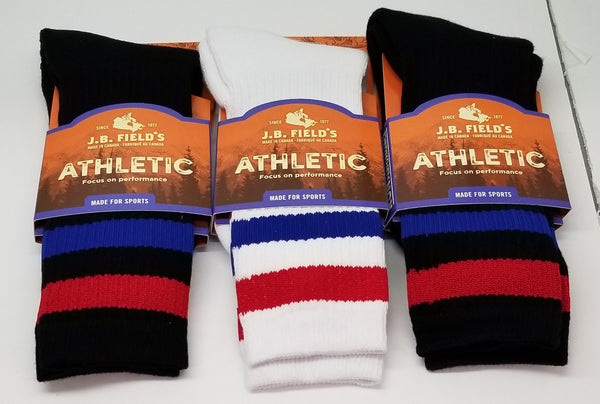 J.B. Field's Men's Organic Cotton Atheltic Sock