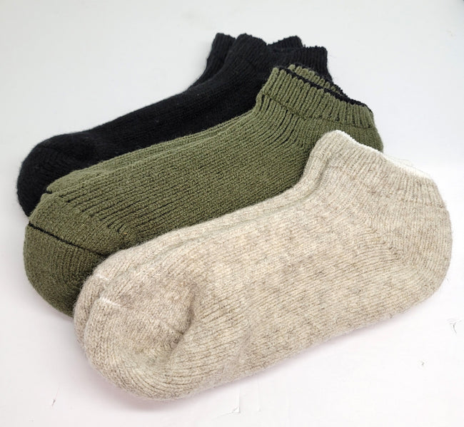 J.B. Field's Cozy Wool Ankle Socks (2 Pairs)