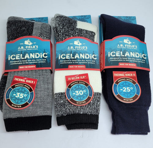 J.B.Field's Best Wool Winter Socks (Assorted 3PK)