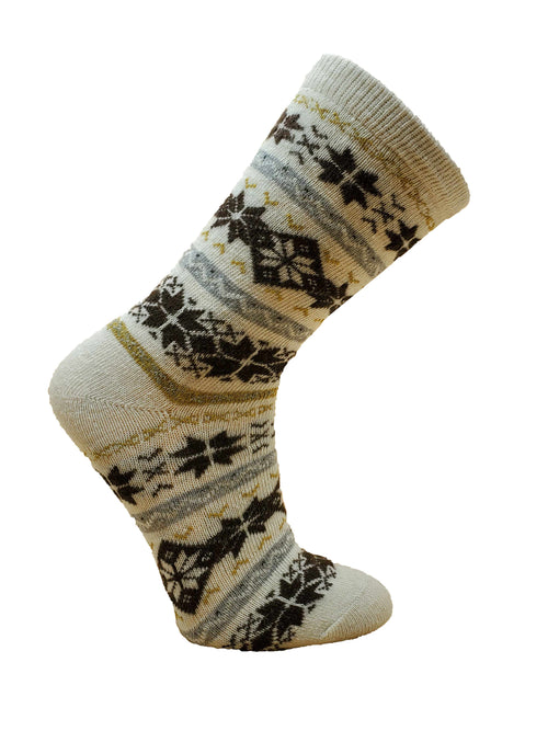 Women's Fair Isle Patterned Angora Blend Sock by Point Zero