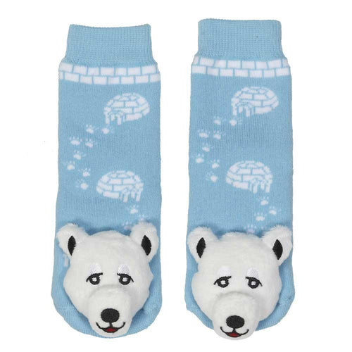 "Lil Traveller Kids ""Polar Bear"" Socks by Parkdale Novelty"