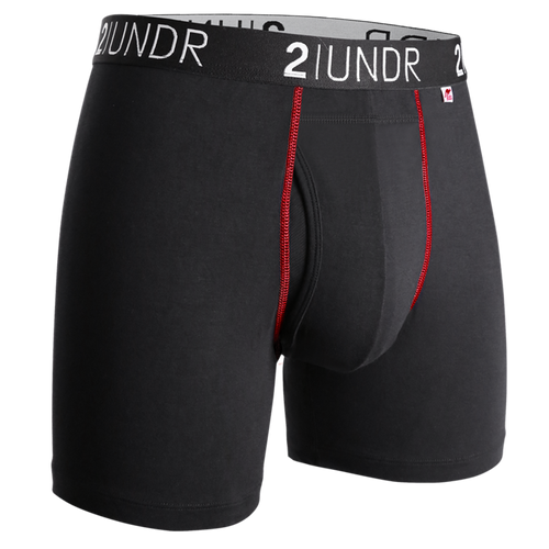 "2UNDR Swing Shift 6"" Boxer Brief -  Black/Red"