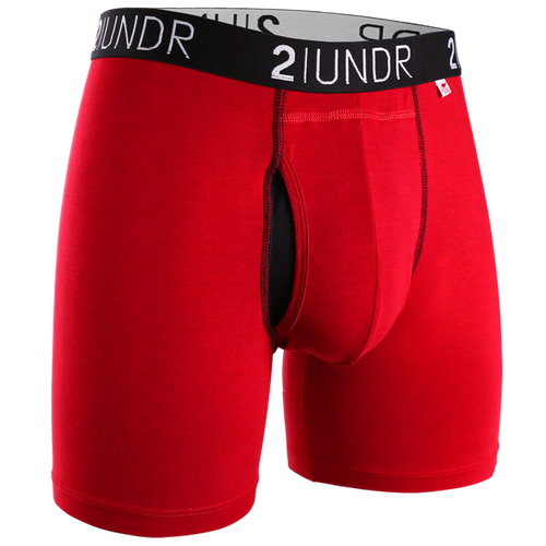"2UNDR Swing Shift 6"" Boxer Brief - Red"